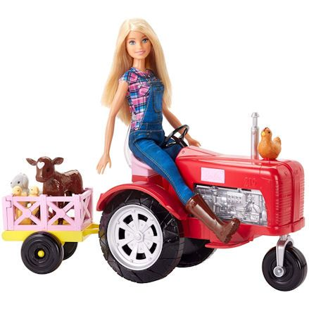 Barbie Tractor and Doll