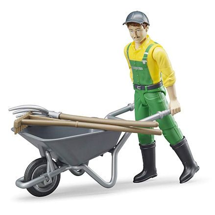 Bruder 62610: Farmer with Accessories, 1:16 Scale