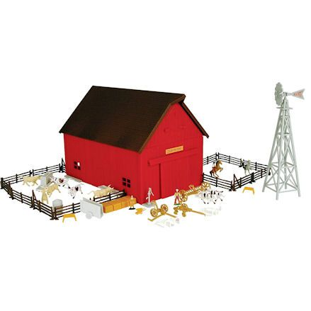 Toy Barn Sets 1 64 Scale Made From Plasticwood Toy Farmers