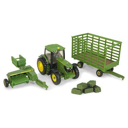 Ertl John Deere Tractor Bailing Set