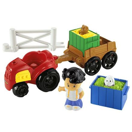 Fisher-Price Y8202 Little People Farm Tractor Trailer