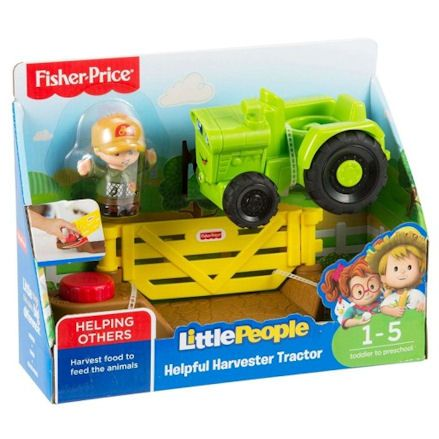 Fisher-Price DWC32 Little People Helpful Harvester Tractor, Boxed