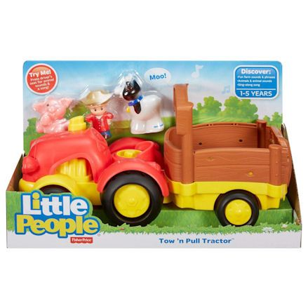 Fisher-Price X0018 Little People Tow 'n Pull Tractor, Boxed