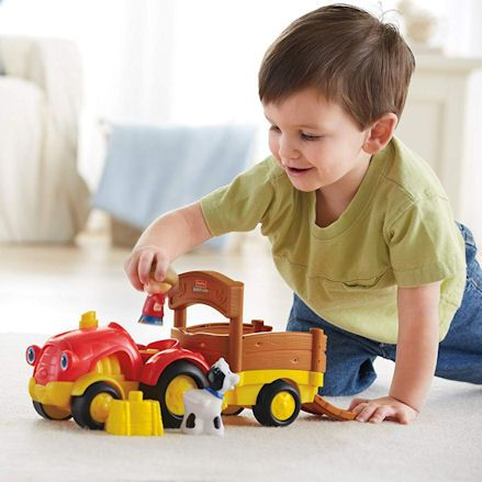 Fisher-Price X0018 Little People Tow 'n Pull Tractor, Boy