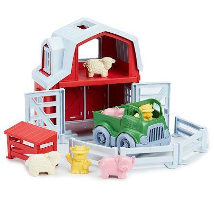 Green Toys Farm Playset, Closeup