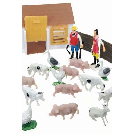 Mini Farm Playset, closeup shot
