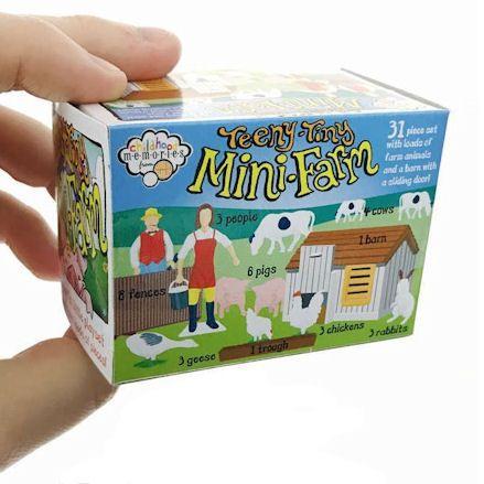Mini Farm Playset, hand in shot