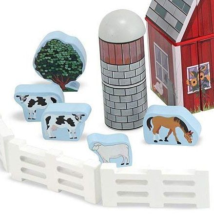 Melissa & Doug Farm Blocks, Animals