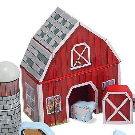 Melissa & Doug Farm Blocks, Barn