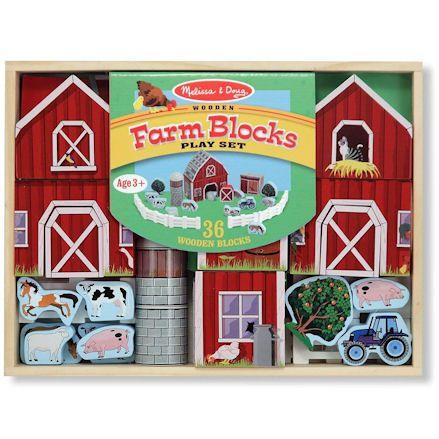 Melissa & Doug Farm Blocks, Boxed