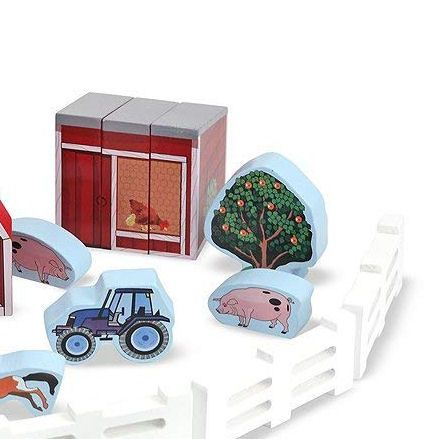Melissa & Doug Farm Blocks, Tractors