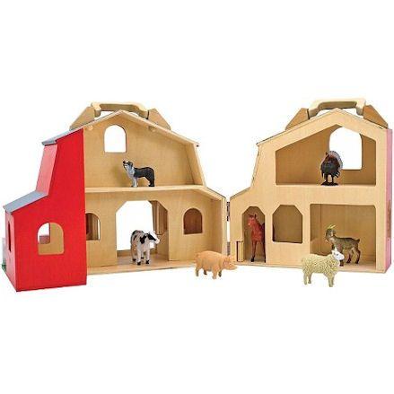 Melissa & Doug: Fold & Go Barn, Interior