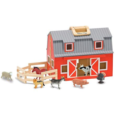 Fold and Go Wooden Barn, Animals