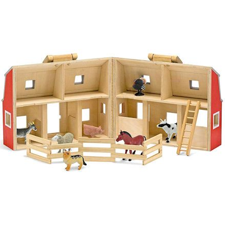 Fold and Go Wooden Barn, Open