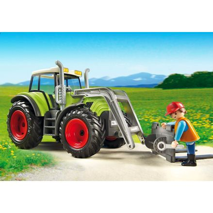 Playmobil Tractor, front loader