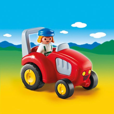 Playmobil Tractor, Colorful