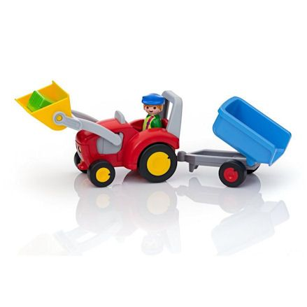 Playmobil 6964: 1.2.3 Tractor with Trailer