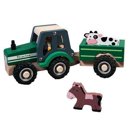 Rosalina Wooden Tractor with Trailer