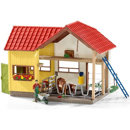Schleich Farm Barn with Animals