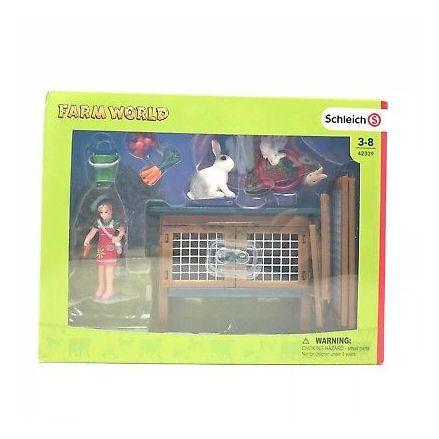 Schleich Rabbit Hutch, Boxed