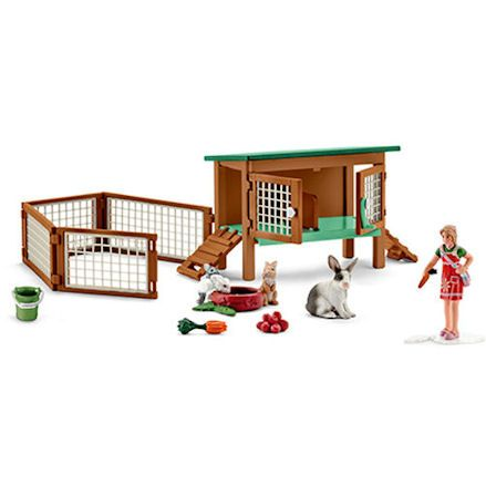 Schleich Rabbit Hutch with Rabbits