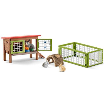 Schleich Rabbit Hutch Playset