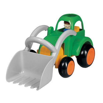 Viking Toys scoop green tractor